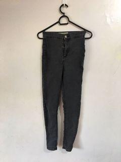 Authentic Topshop Black/Dark Gray Joni Jeans