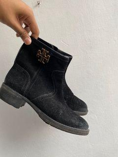 Authentic Tory Burch suede black boots
