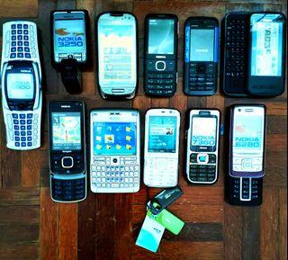 Vintage Koleksi- Nokia Phone For Display Only / Collectible -11 Units