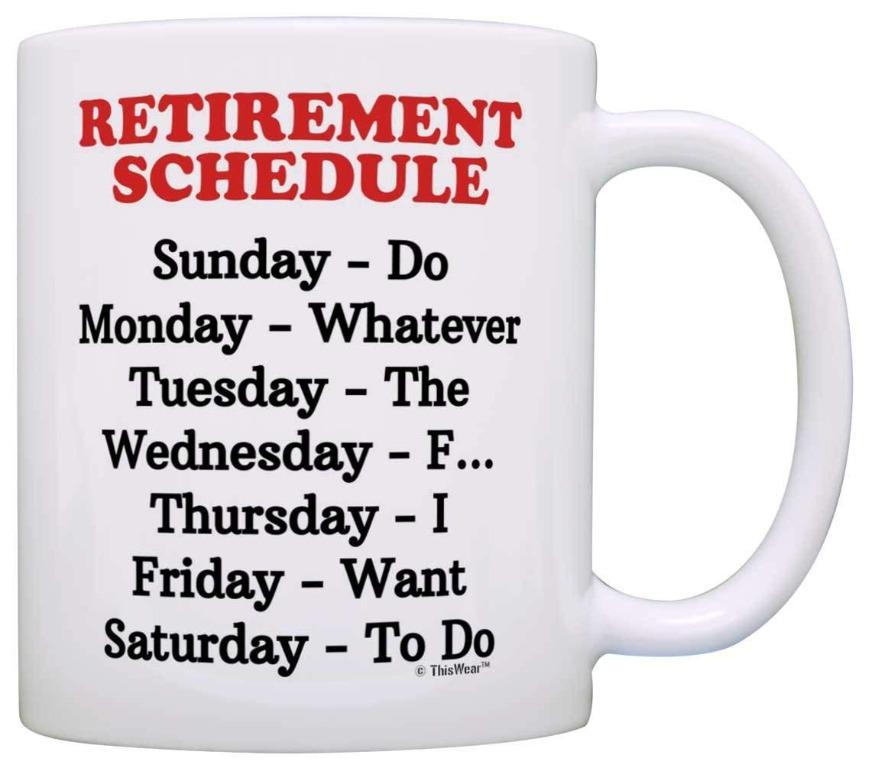Eliseoewer cup retirement weekly schedule(Limited Stocks)