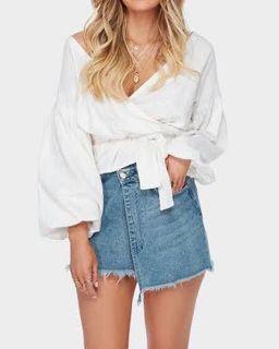 Elle X Billabong Wrap Denim Skirt