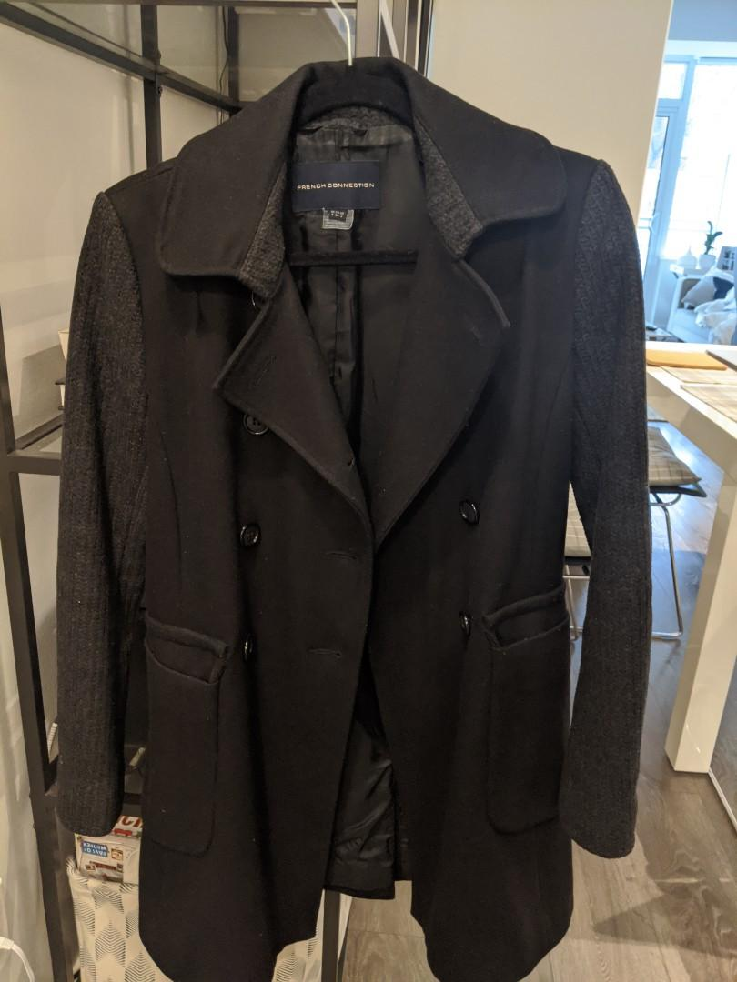 French connection wool coat