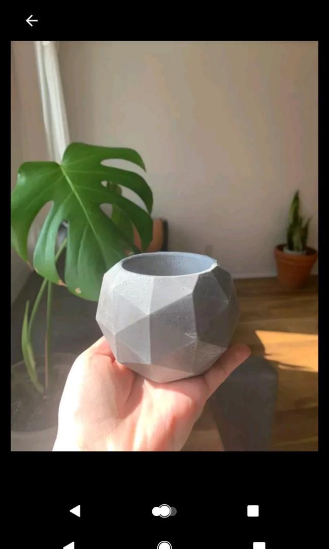Handcrafted mini planter