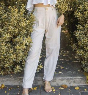 Linen Lab Solene Trousers (Beige)