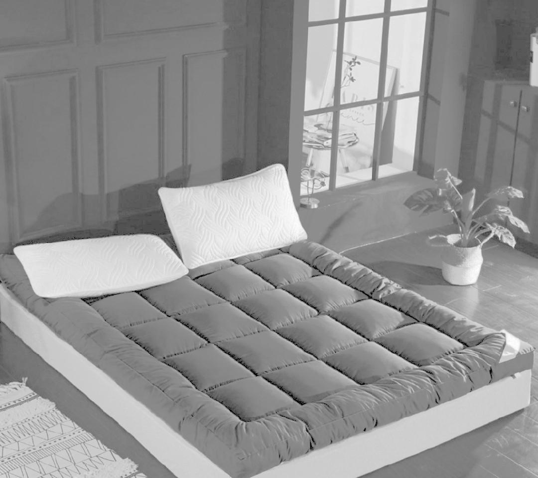 Silk soft thin mattress ❤️ double bed 🛌 羽絨絲軟式薄款床墊,6-7成新 150×200cm,sew & dyed as pics