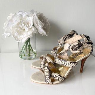 Michael Kors Python Print Sandals