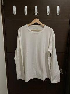 Muji棉麻寬肩長袖(XL)