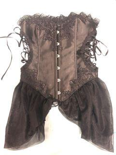 Small Black Corset with Cut Outs
