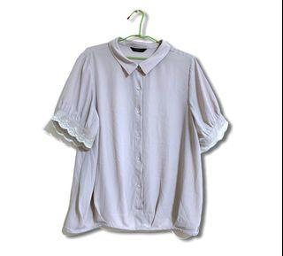 YBS雪紡米色襯衫  滿200免運