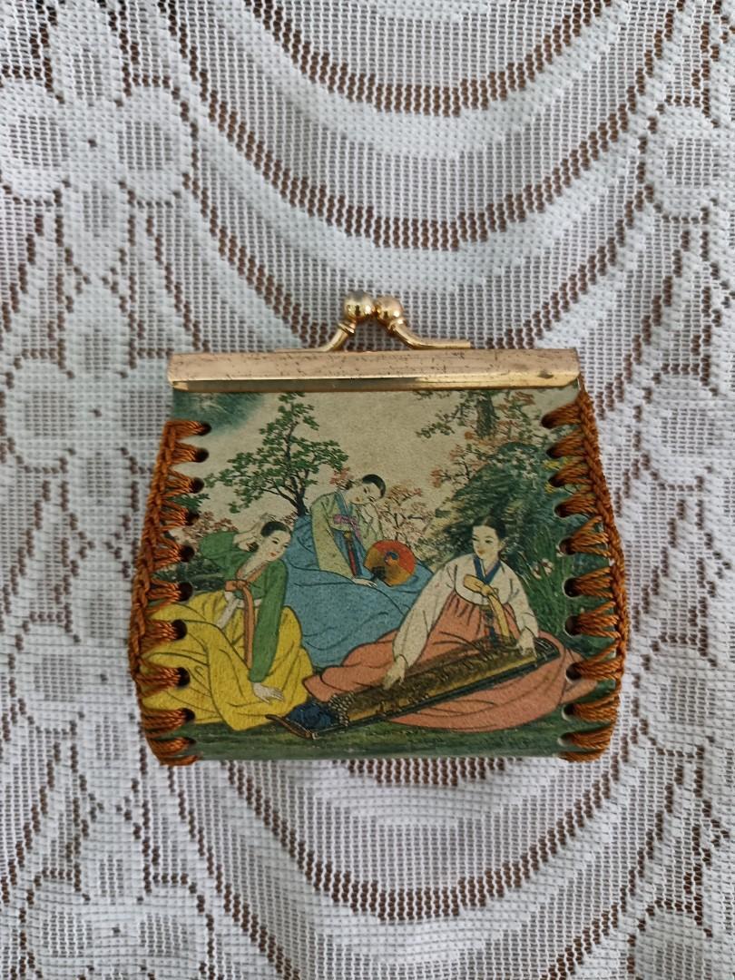 古代韓國美女圖錢包#開工