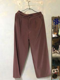藕紫色西裝寬褲