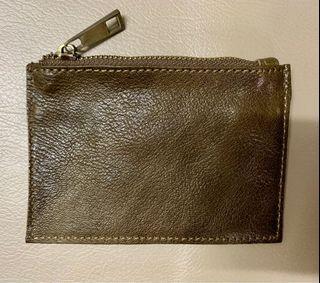 全新意大利🇮🇹散紙包 - 卡其色 (可放鎖匙,信用卡,紙幣,硬幣)