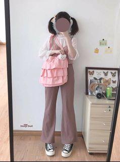 你別睡 大容量 購物袋 日系 原宿 軟妹 側背包 蛋糕 lolita 軟妹