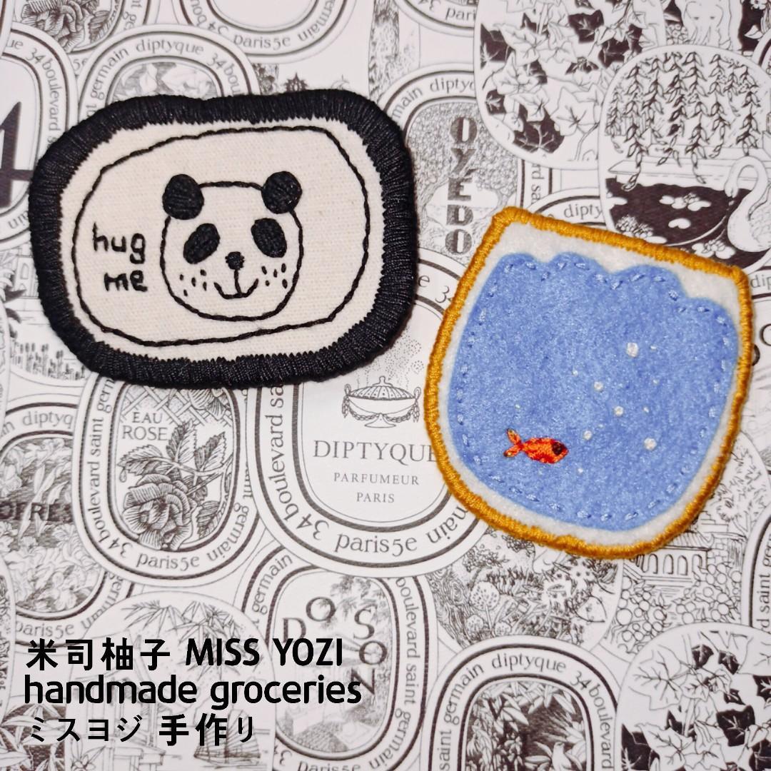 手作 |手縫 |日系童趣別針/黑白貓熊 made in 🇹🇼