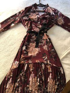 Boutique long flowered dress, size S