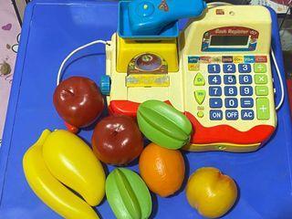 Cash register & fruits