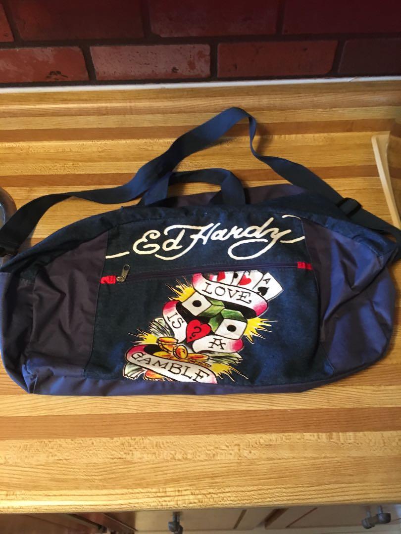 ED HARDY-GYM/DUFFLE BAG