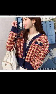 Korean Tweed Sweater Crop