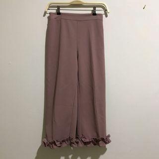 Lilac Ruffle Pants