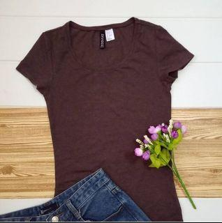Maroon top by divided