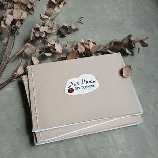Mixed Media Sketchbook - Handmade
