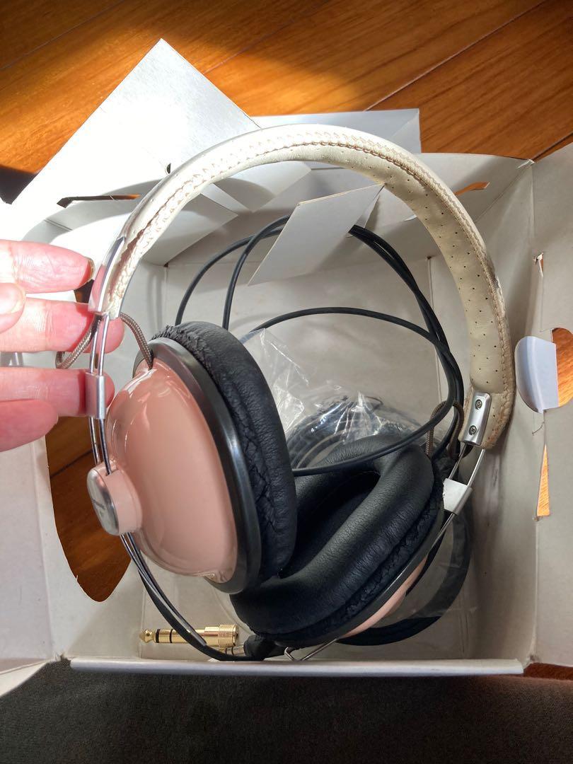 Panasonic RP HTX7馬卡龍粉 復古耳機