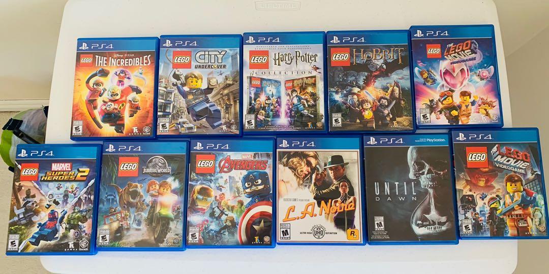 PS4 Videogames - LEGO, Until Dawn, L.A. Noire