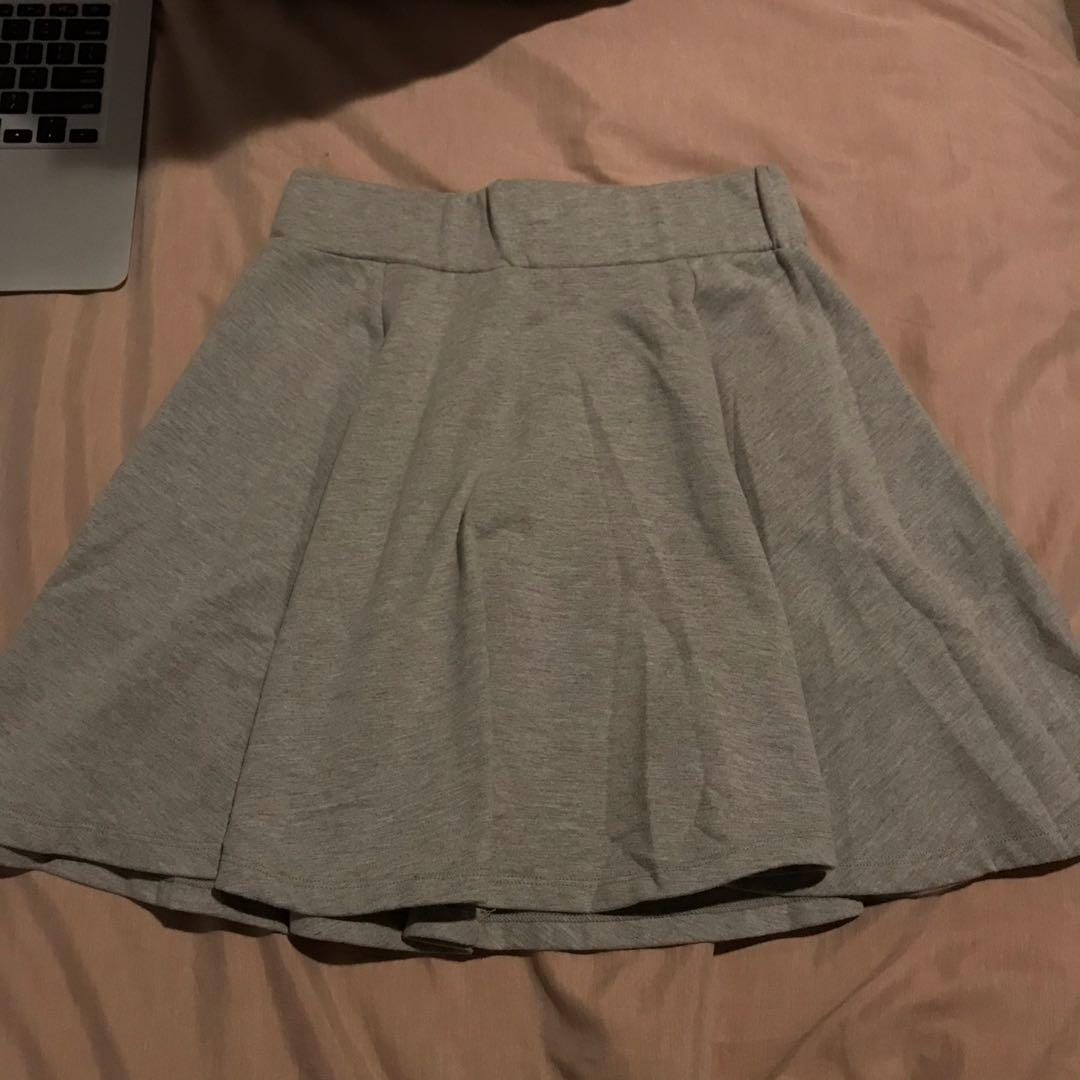 Thrifted Grey Skirt