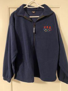 USA Olympic Fleece Zip-Up Jacket (Vintage)