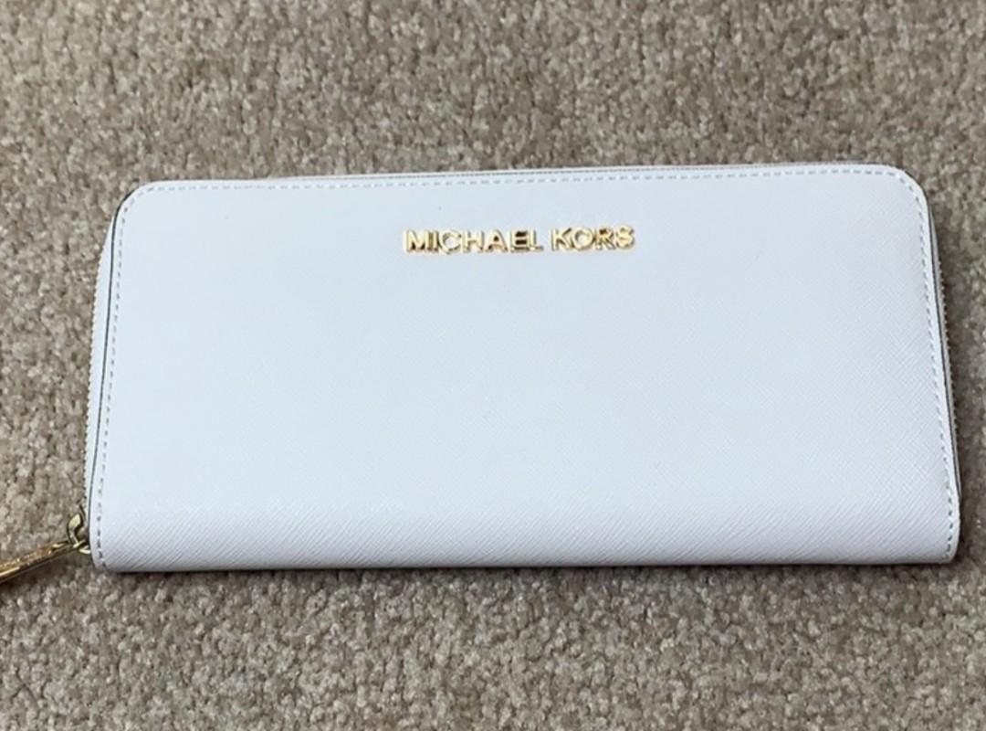 1 White and 1 Green MK Wallet