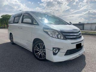 2012/15 TOYOTA ALPHARD 2.4 (A) MPV KING/ 8 SEATER/ 2 POWER DOOR TIPTOP CONDITION FULL SERVICE RECORD