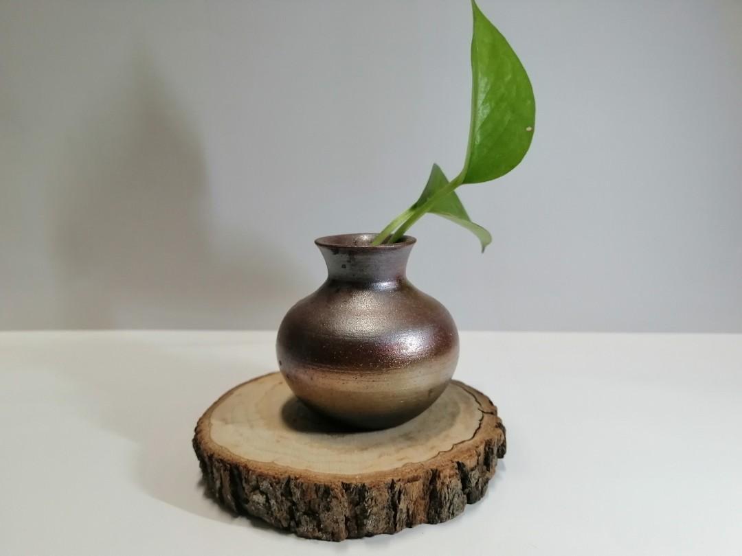 柴燒小花瓶