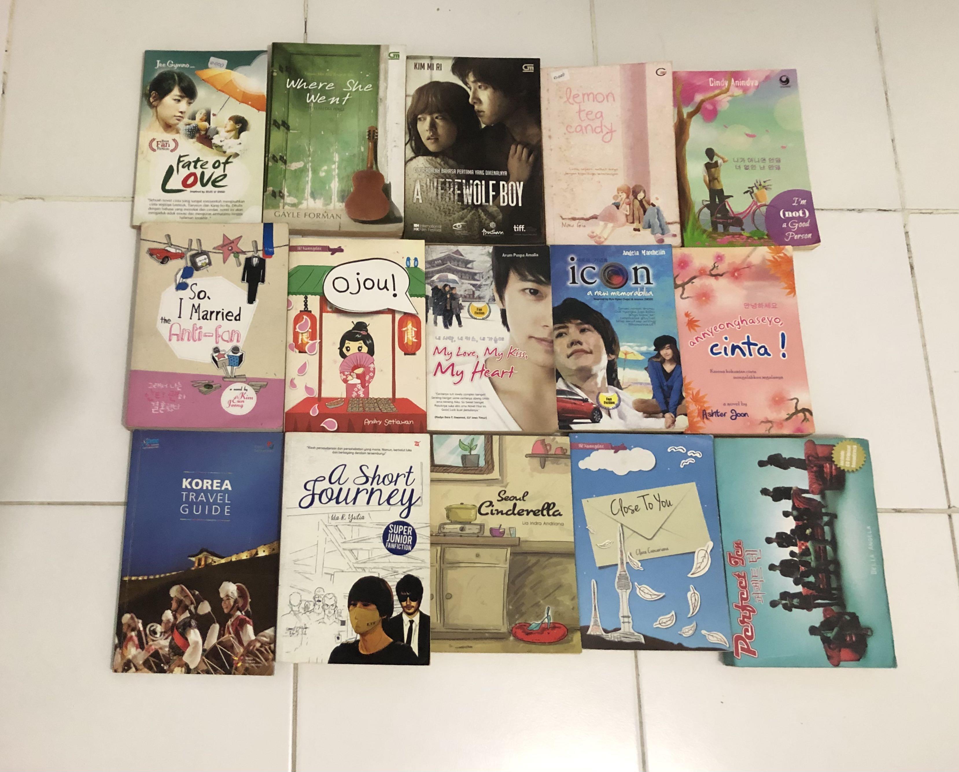 Buku Novel Jepang Korea Bahasa Indonesia #novel #korea #buku