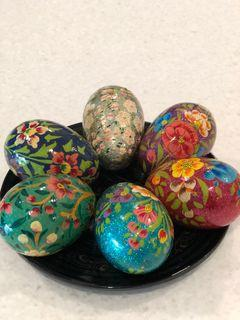 Decorative Item - Hand painted wooden Eggs