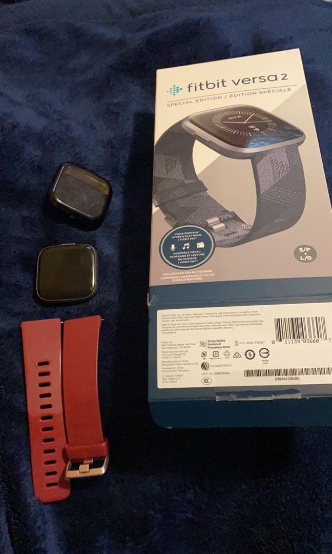 Fitbit versa 2 with protector
