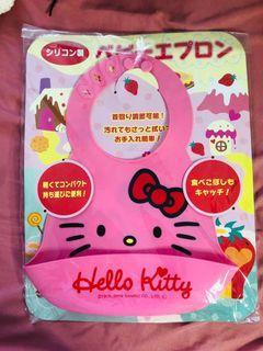 Hello kitty silicon baby bib