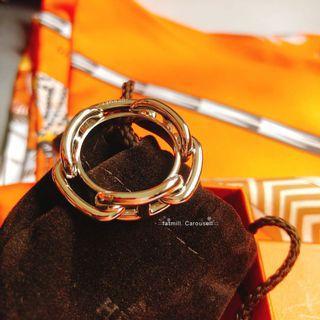 Hermes New Regate Scarf Ring - light gold 淡金絲巾釦