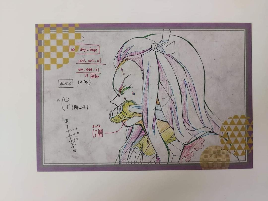 Kimetsu No Yaiba Demon Slayer Kamado Nezuko original animation drawing Genga postcard