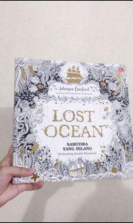 Lost Ocean - adult coloring book buku mewarnai untuk dewasa secret garden