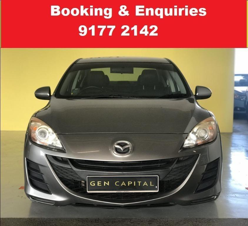 Mazda 3. [PHV /Grab /Personal] Available pre booking. Available 04/02/2021. PHV/PERSONAL/GRAB/Ryde/GOJEK/PARCEL DELIVERY .$500 deposit only. Whatsapp 9177 2142 to reserve.Cheap Car Rental. Cheap Car. Budget car.