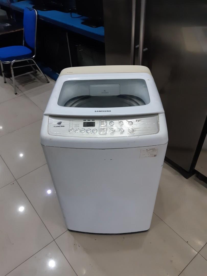 Mesin Cuci 1 tabung Samsung Diamond drum 8kg, sehat