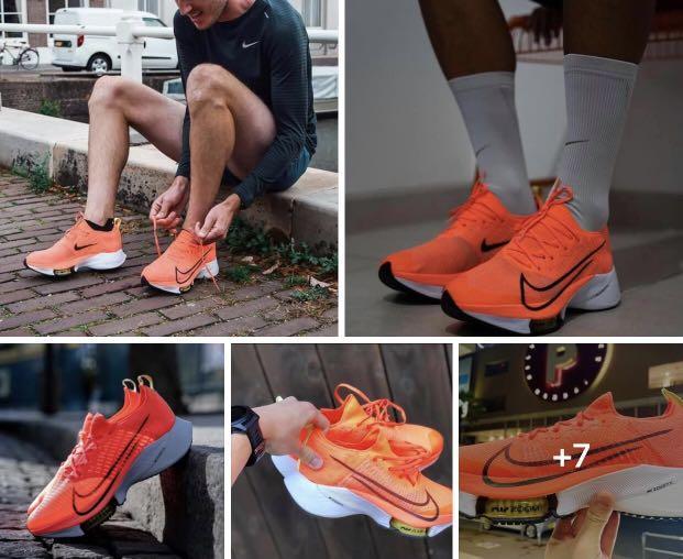 NIKE ZOOM TEMPO NEXT% FK 橘 芒果配色 CI9923-800  高階跑鞋 訓練比賽兩相宜 尺寸US8.5