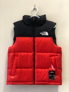 North Face Men's 1996 Retro Nuptse Vest RED & Fiery RED