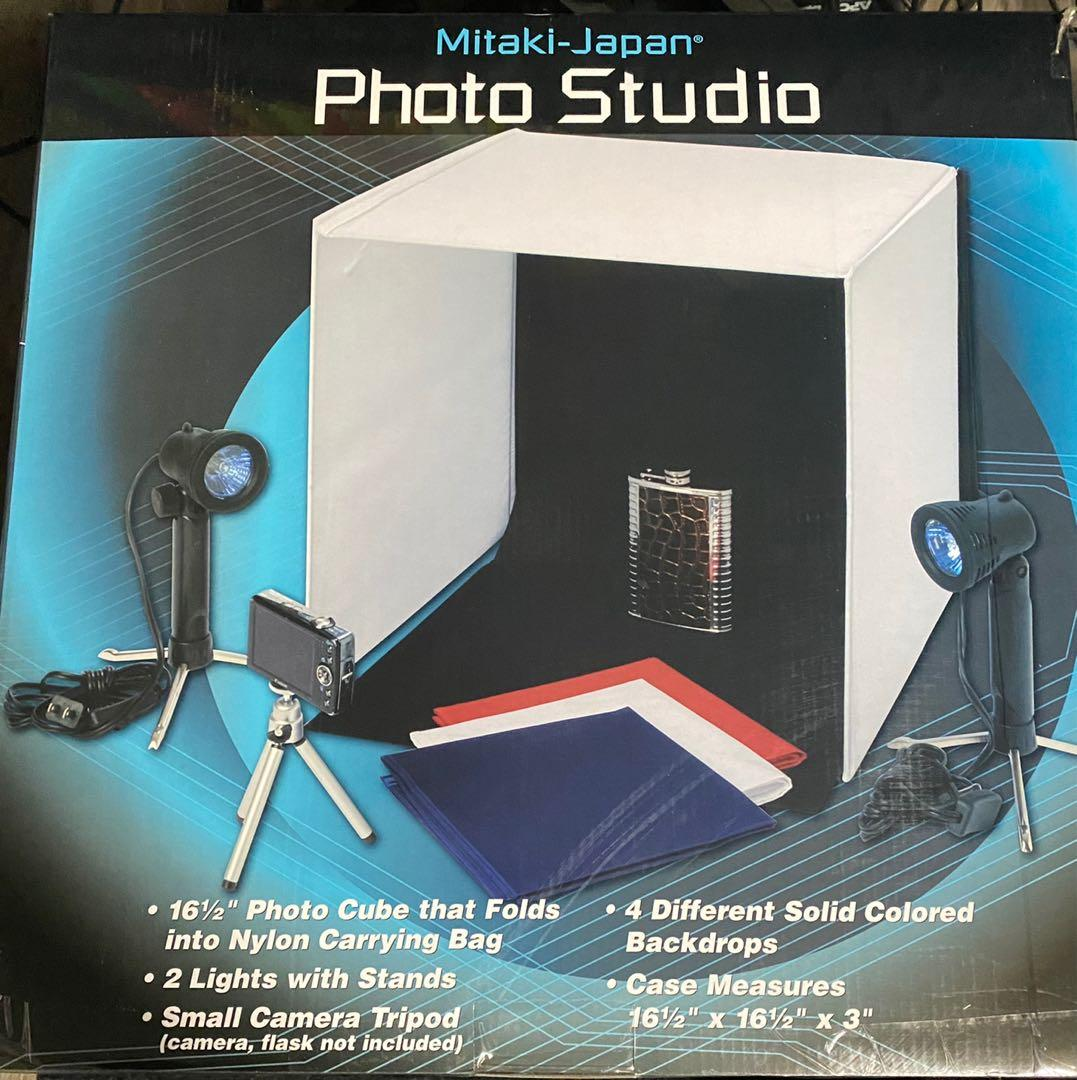 Photo Studio Booth With Lights & Back Drops