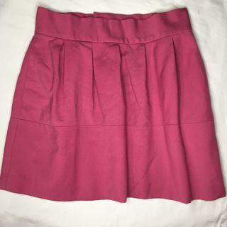 Zara basic pink midi skirt