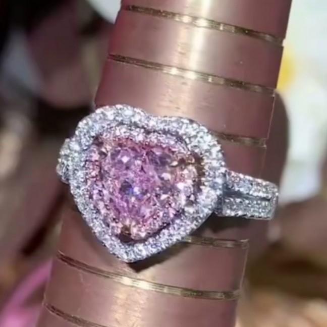 1ct pink diamond ring