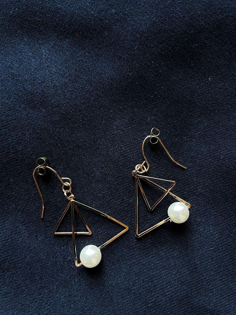 珍珠三角耳環