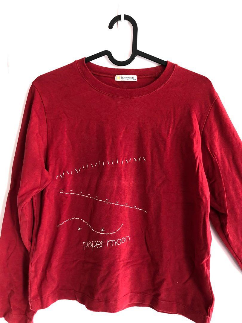 棉95%薄長袖 紅色 過年出清🧨隨便賣