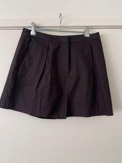 ASOS black linen shorts