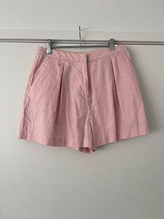 ASOS pink linen shorts